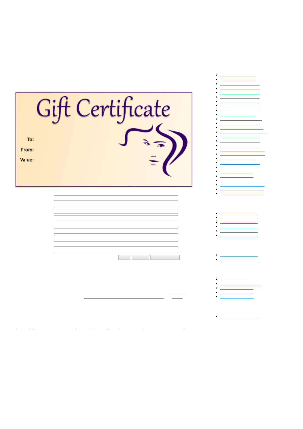 download hair salon gift certificate template for free