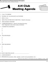 Club Meeting Agenda Templates
