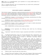 Agency Agreement Sample