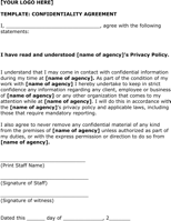 Simple Non Disclosure Agreement Form