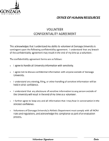 Human Resources Confidentiality Agreement Templates
