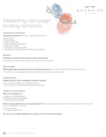 Marketing Campaign Template