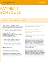 Payment Schedule Planning Template