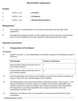 Shareholder Agreement Sample