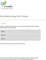 Social Media Strategy Template
