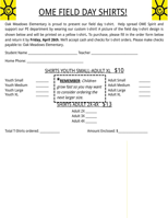 T-Shirt Order Form Template