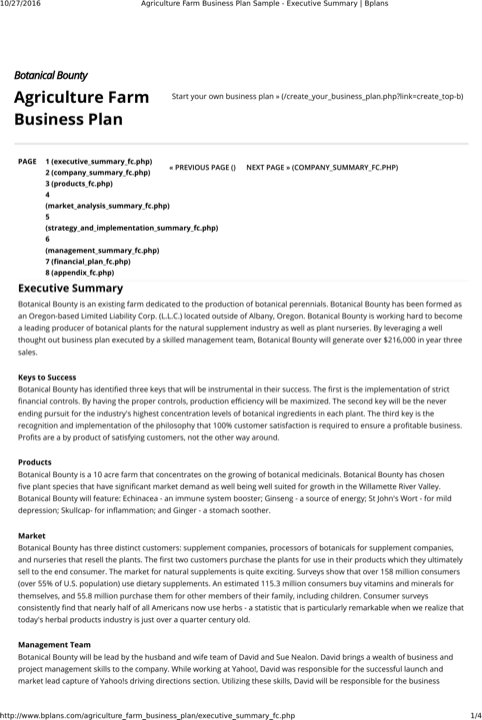 Download Farm Business Plan Templates For Free Formtemplate