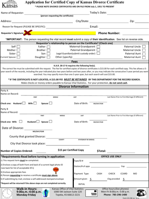 Application Form For Divorce Certificate Template