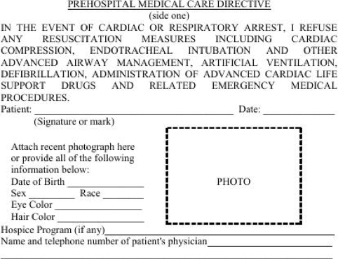 Download Arizona Do Not Resuscitate Form for Free - FormTemplate
