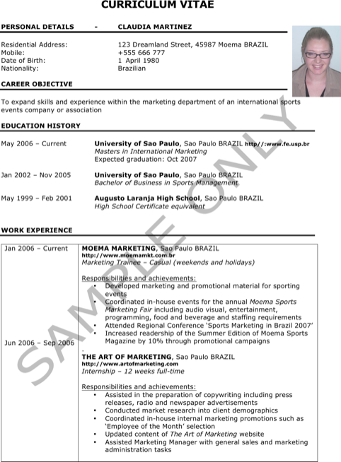 Assistant Marketing Manager Resume Template