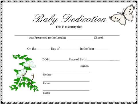 Baby Certificate