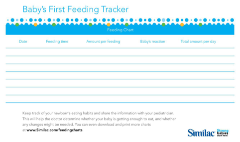 Baby's First Feeding Tracker
