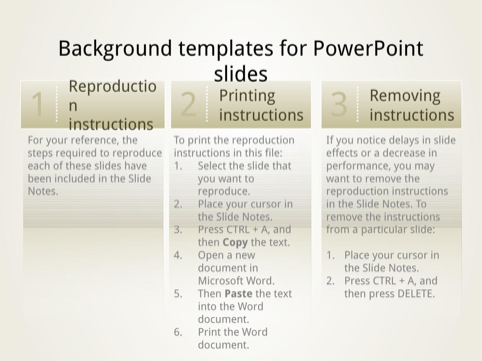 Backgrounds for PowerPoint Slides