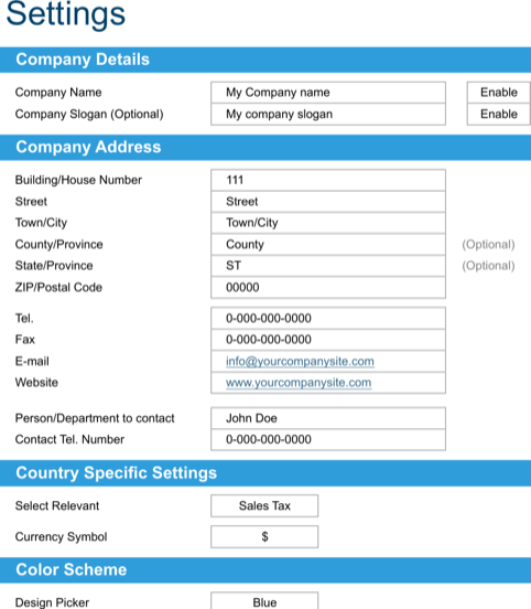 Basic Invoice Template 3 Repaired