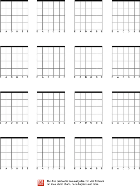 Download Blank Guitar Chord Charts For Free Formtemplate