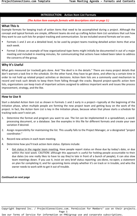 Blank Meeting Agenda Template For Presentation Sample