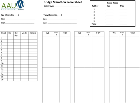 graphic relating to Printable Bridge Score Sheets named Obtain Bridge Ranking Sheet for Absolutely free - FormTemplate