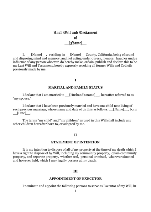 Download Ontario Last Will And Testament Form For Free Formtemplate