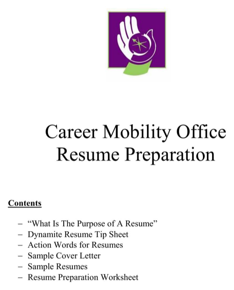 Career Mobility Office Resume Preparation