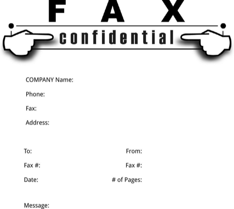 Confidential Fax Cover Sheet