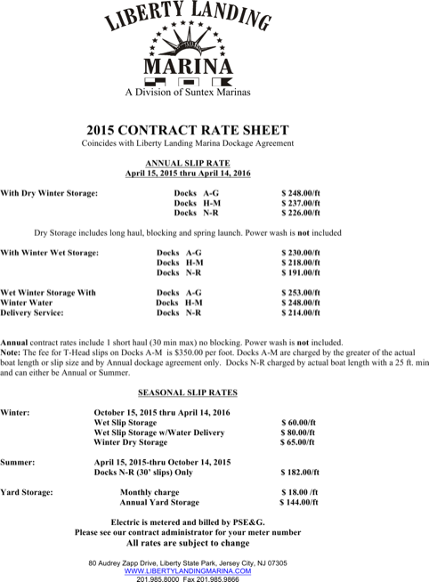 Contractor Rate Sheet Template