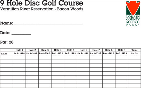 Disc Golf Scorecard