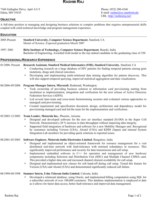Download Software Engineer Resume Templates For Free