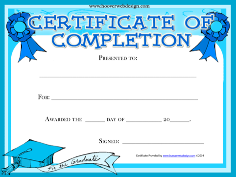 Free Certificate Of Completion Award Certificate
