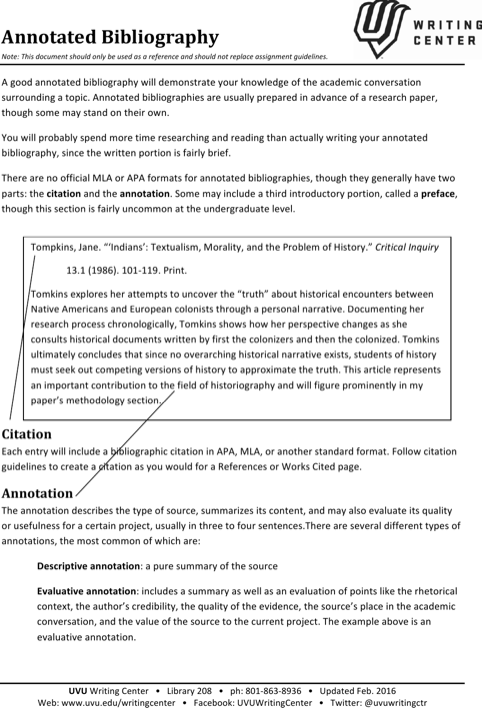download simple annotated bibliography templates for free