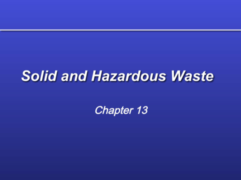 Hazardous Waste Management PPT