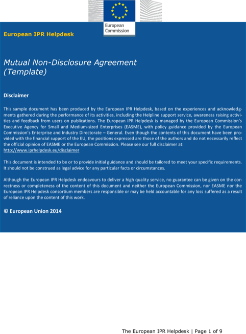 Help Desk Non Disclosure Agreement Simple Pdf Template