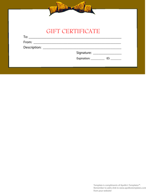 Holiday Gift Template Pdf Format Free Download