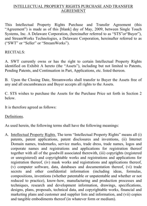 Intellectual Property Rights Purchase and Transfer Agreement