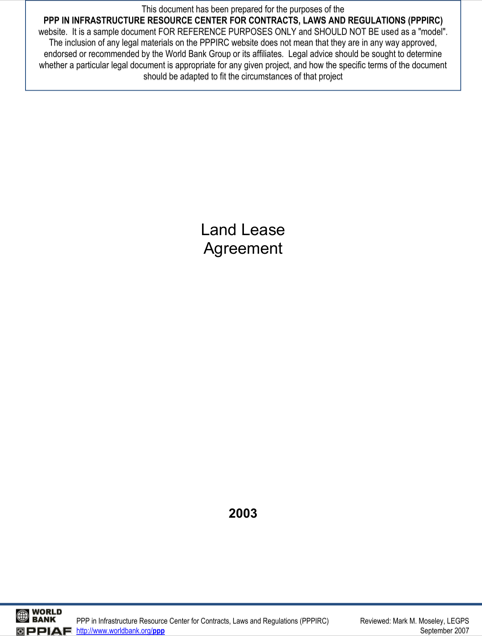 Land Lease Agreement Free Download