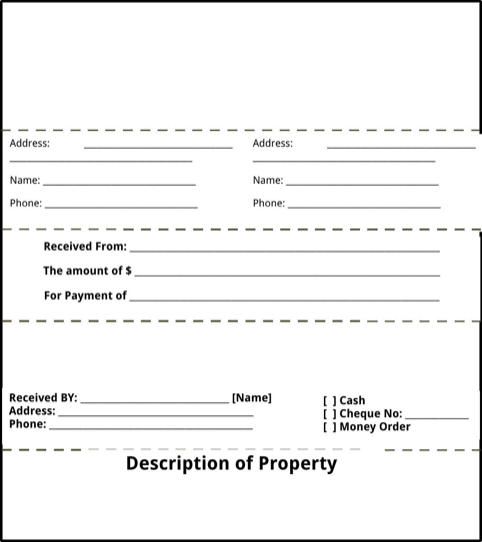 Landlord Receipt Template