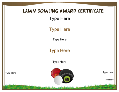 Law Bowling Award Certificate