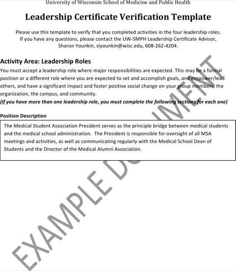 Leadership Award Certificate Free Download