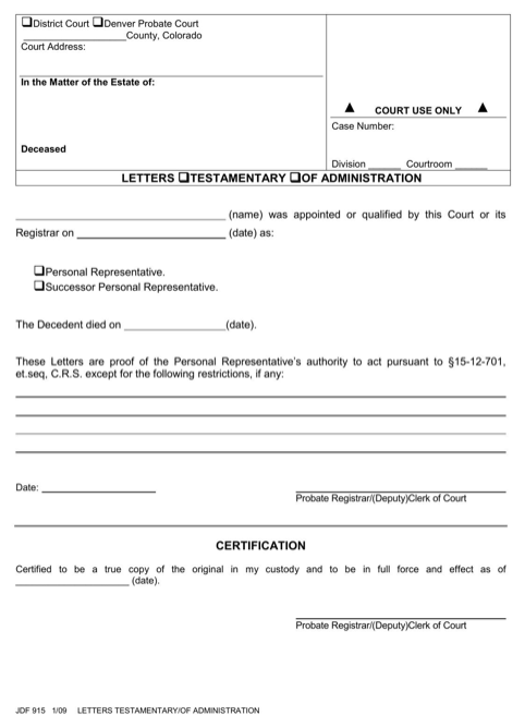 Download Probate Forms for Free  FormTemplate