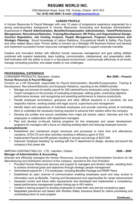 Manager of Administration & Accounting Resume
