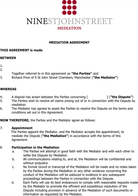 Mediation Confidentiality Agreement For Agent