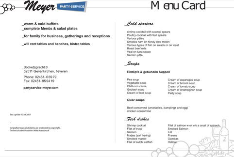 Sample Menu Card | Download Sample Menu Card For Free Formtemplate