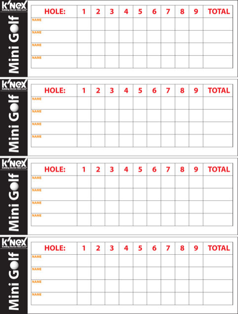 Mini Golf Scorecard