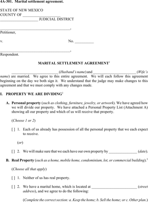 Download New Mexico Divorce Papers for Free - FormTemplate