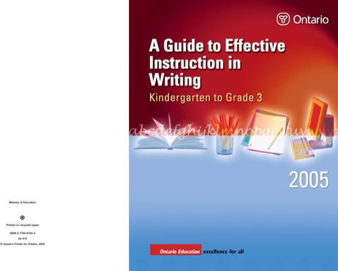 Overview Of Effective Instruction In Writing