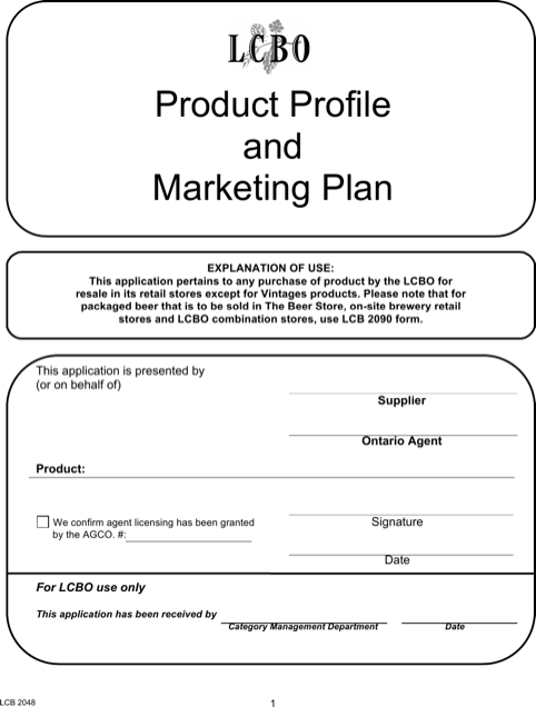 Product Profile Marketing Plan