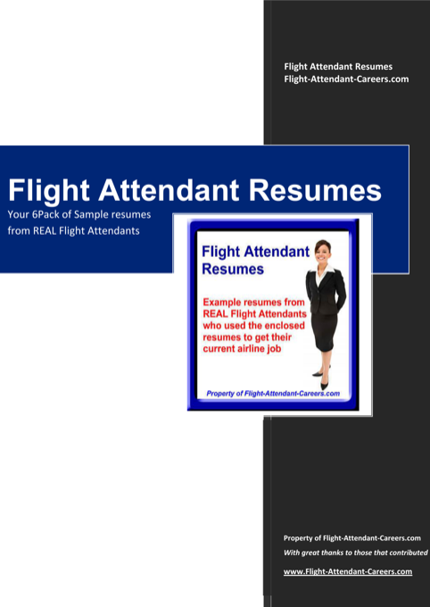 Professional Flight Attendant Resume