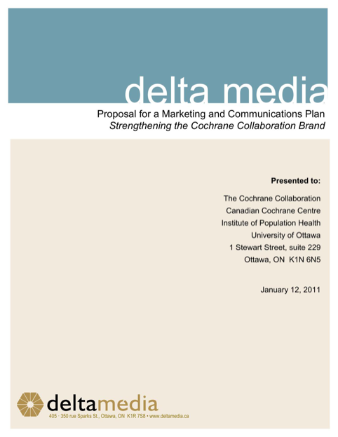 Proposal for Marketing and Communications Plan
