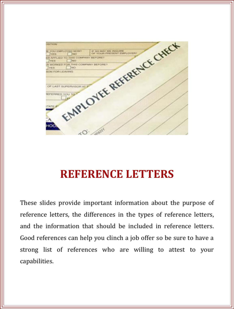 Reference Letter