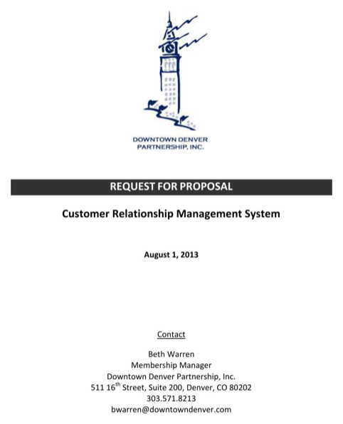 Request for Proposal - Customer Relationship Management System