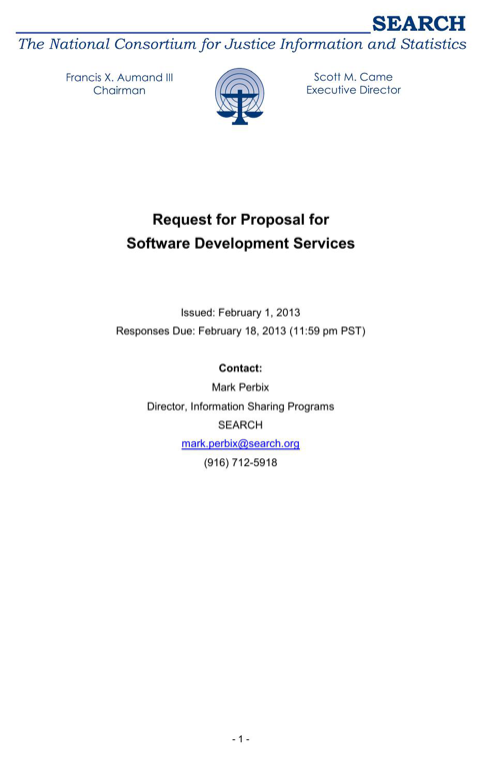 Request for Proposal for Software Development Services